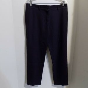 TORY BURCH Navy Blue Wool Ankle Dress Pants, 6